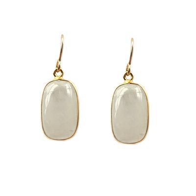 Jo Lupton Golden Moonstone Rectangle Earrings