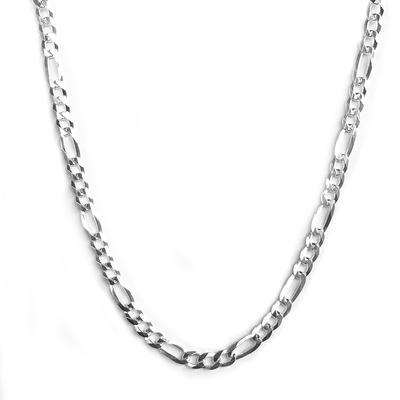 Sterling Silver Figaro Chain Choker