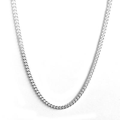Sterling Silver Curb Chain Choker