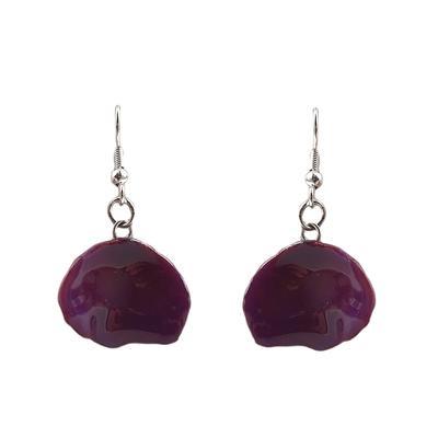 Lilac Rose Petal Earrings