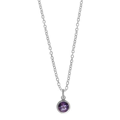 Boma Sterling Silver & Amethyst Small Round Necklace