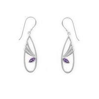 Boma Sterling Silver & Amethyst Flutter Earrings