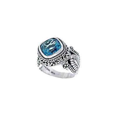 Sarda Sterling Silver & Teal Mystic Quartz Ring