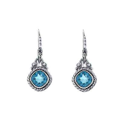 Sarda Sterling Silver & Teal Mystic Quartz Earrings