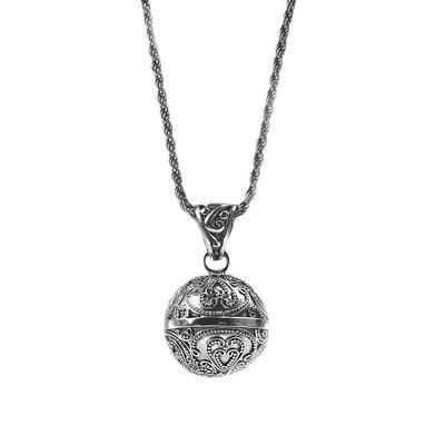 Sarda Sterling Silver Filigree Bell Necklace