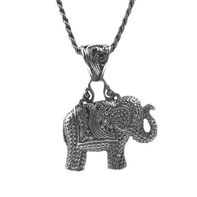 Sarda Sterling Silver Elephant Necklace