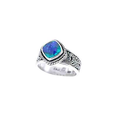 Sarda Sterling Silver & Caribbean Quartz Filigree Ring