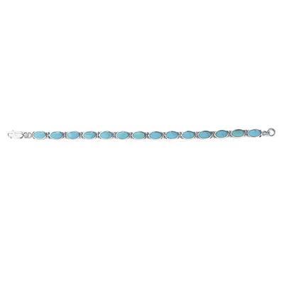 Boma Blue Turquoise Inlay Bracelet