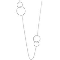 Boma Sterling Silver Double Circle Station Necklace