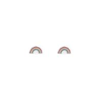 Boma Sterling Silver & Enamel Rainbow Studs
