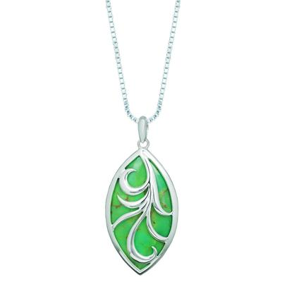 Boma Green Turquoise Vine Filigree Drop Necklace