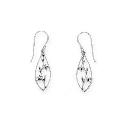 Boma Sterling Silver Climbing Vine Earrings