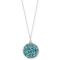 Boma Sterling Silver & Turquoise Filigree Overlay Necklace