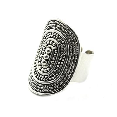 Indiri Sterling Silver Raya Adjustable Ring