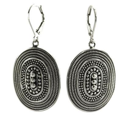 Indiri Sterling Silver Raya Granulation Earrings