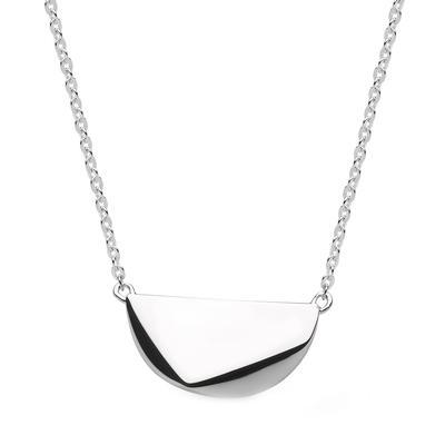 Kit Heath Sterling Silver Coast Rokk Tag Necklace
