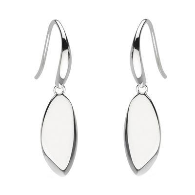 Kit Heath Sterling Silver Coast Rokk Tag Drop Earrings