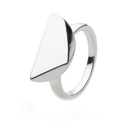 Kit Heath Sterling Silver Coast Facet Edge Ring