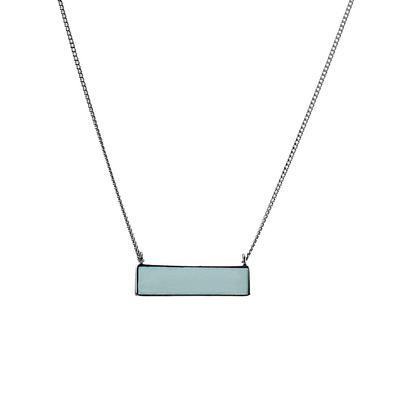 Mimi & Marge Aquamarine Bar Necklace