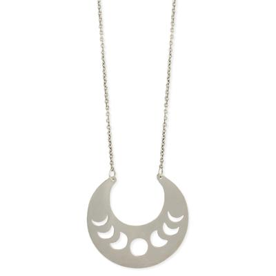 Silver Metal Moon Phases Necklace