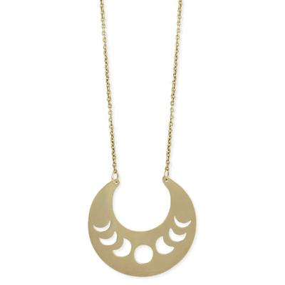 Golden Metal Moon Phases Necklace