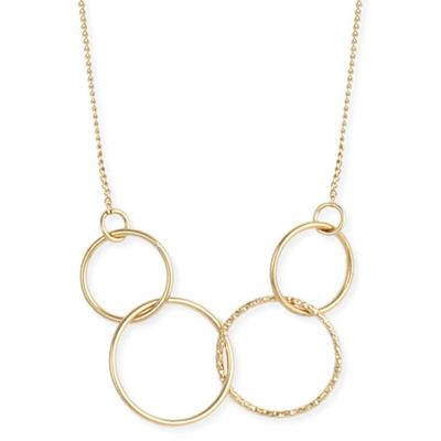 Linked Golden Rings Necklace