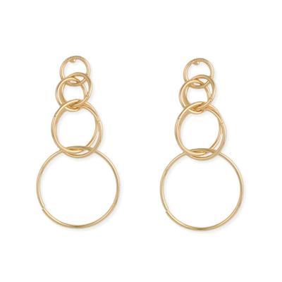 Linked Golden Rings Earrings