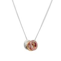Mimi & Marge Tri-Color Rings Necklace