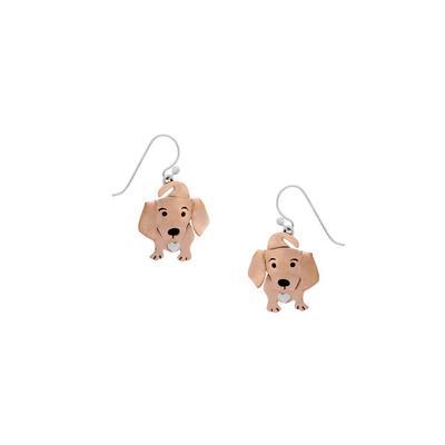 Far Fetched Sterling Silver & Copper Doxie Earrings