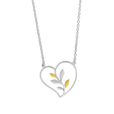 Boma Sterling Silver & Gold Vermeil Heart Vine Necklace