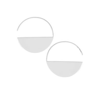 Boma Sterling Silver Solid Half Circle Threader Hoops