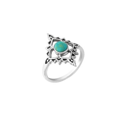Boma Sterling Silver & Turquoise Filigree Ring