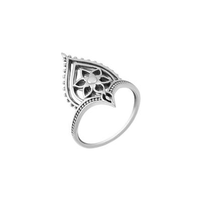 Boma Sterling Silver Balinese Flower Ring