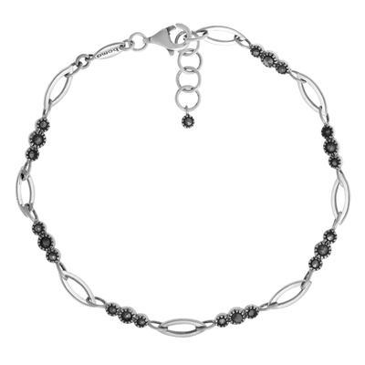 Boma Sterling Silver & Marcasite Open Link Bracelet
