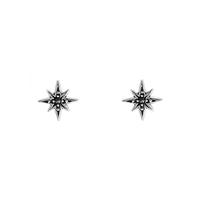 Boma Sterling Silver & Marcasite Tiny Star Studs