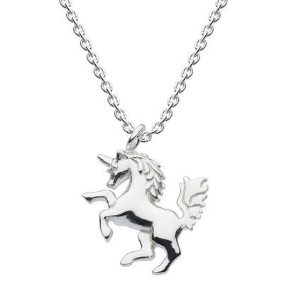 Kit Heath Sterling Silver Tiny Mythical Unicorn Necklace