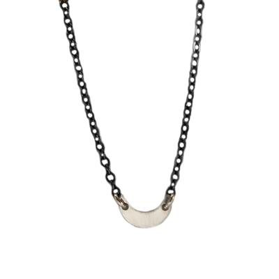 Kelley Reese Sterling Silver Tiny Crescent Necklace