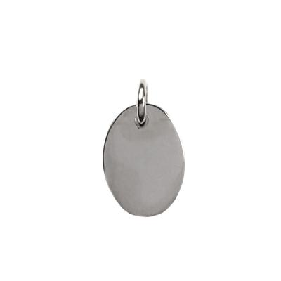 Sterling Silver Oval Charm