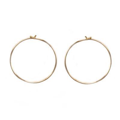 Medium Thin Gold Filled Hoops