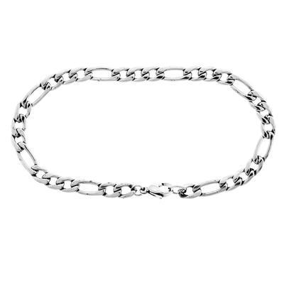 Inox Men's Stainless Steel Figaro Link Bracelet