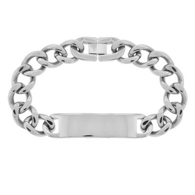 Inox Men's Stainless Steel Id Curb Chain Bracelet