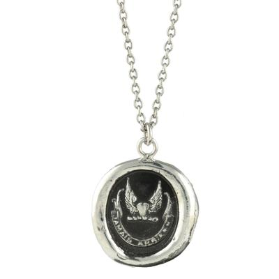 Pyrrha Sterling Silver Never Look Back Talisman Necklace