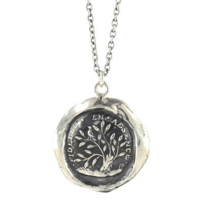 Pyrrha Sterling Silver Fidelity Talisman Necklace