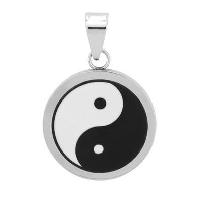 Inox Stainless Steel Yin Yang Pendant