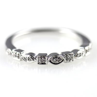 Elsa M Peggy Diamond & Sterling Silver Ring