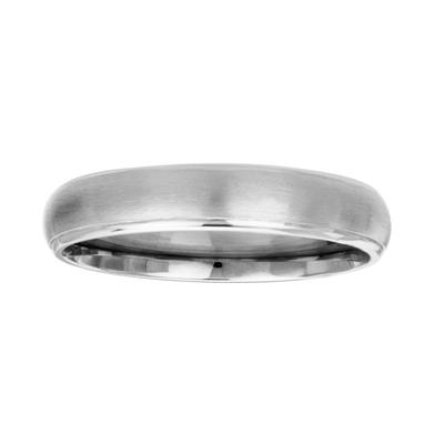 Inox 5mm Dual Finish Titanium Band Ring