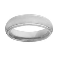 INOX 6mm Dual Finish Titanium Band Ring