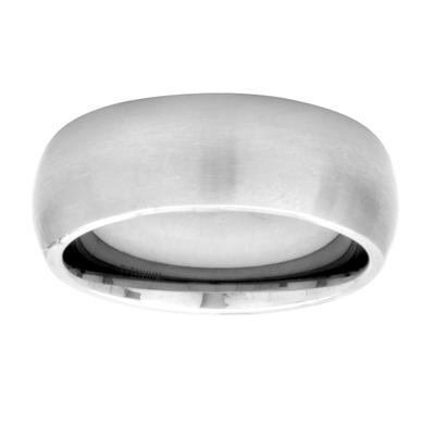 Inox 7mm Wide Matte Finished Titanium Band Ring