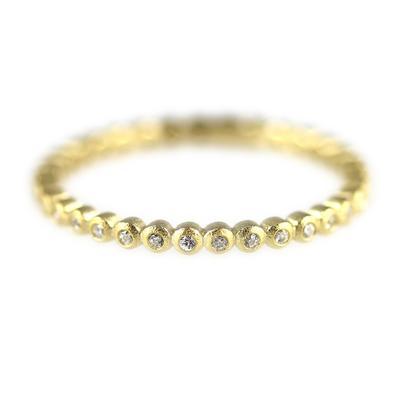 Bezel Set Cz & Gold Ring