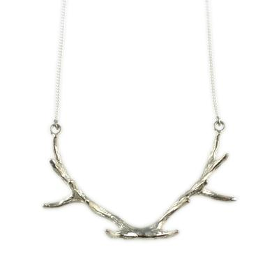 Mimi & Marge Sterling Silver Antler Necklace